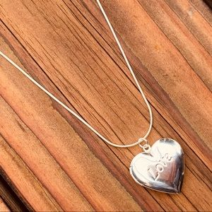 LOVE ♡ Locked Silver Necklace GIFT